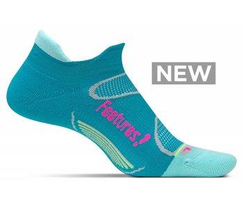 Feetures Elite Light Cushion No Show Tab Socks Capri/Pink Pop