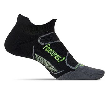 Feetures Elite Light Cushion No Show Tab Socks Black/Reflector