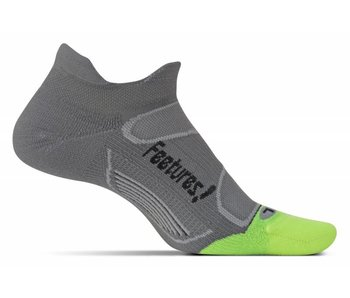 Feetures Elite Light Cushion No Show Tab Socks Graphite/Black