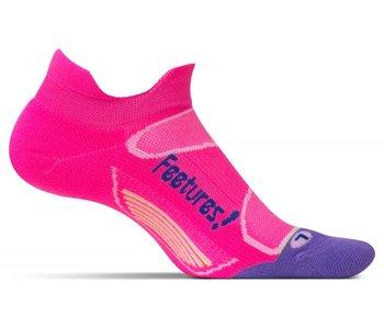 Feetures Elite Light Cushion No Show Tab Socks Pink Pop/Iris