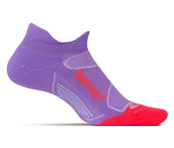 Feetures Elite Light Cushion No Show Tab Socks Viola/Lava