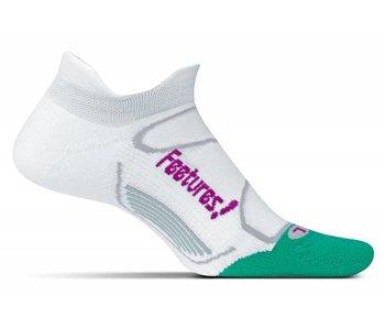 Feetures Elite Light Cushion No Show Tab Socks White/Berry