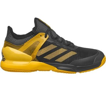 Adidas Adizero Ubersonic 2 Black/Yellow Men's Shoe