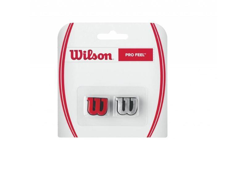 Wilson Pro Feel Dampener Pair Red & Silver