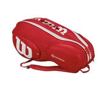 Wilson Pro Staff 15 Tennis Bag Red/White