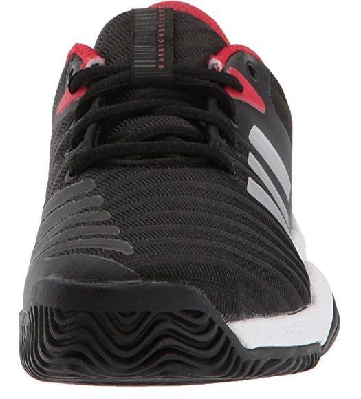 Adidas Barricade  Junior Black Red Shoes