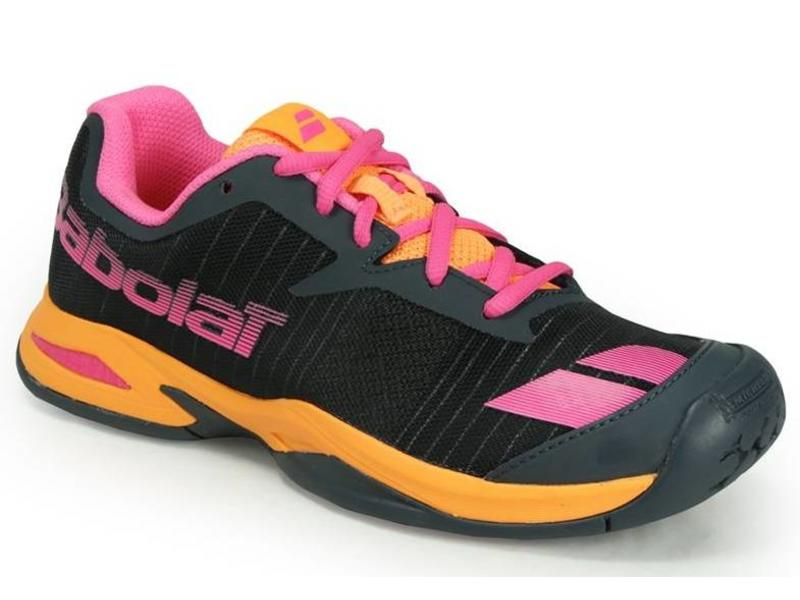 Babolat Jet All Court Grey/Orange/Pink Junior Shoes