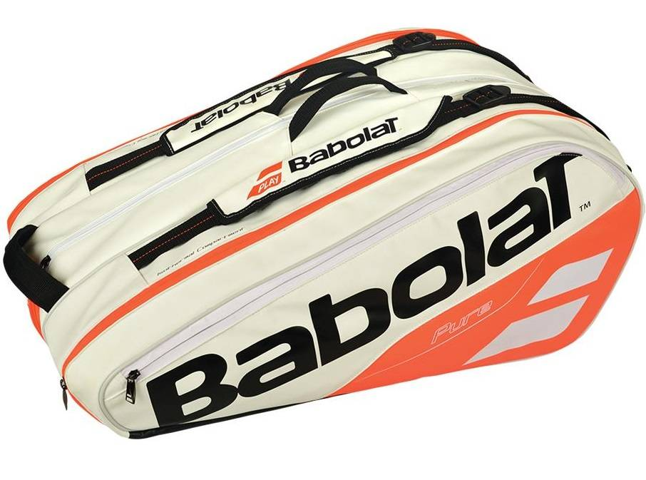 babolat pure strike white red 12 pack bag 2018 tennis topia best sale prices and service in. Black Bedroom Furniture Sets. Home Design Ideas