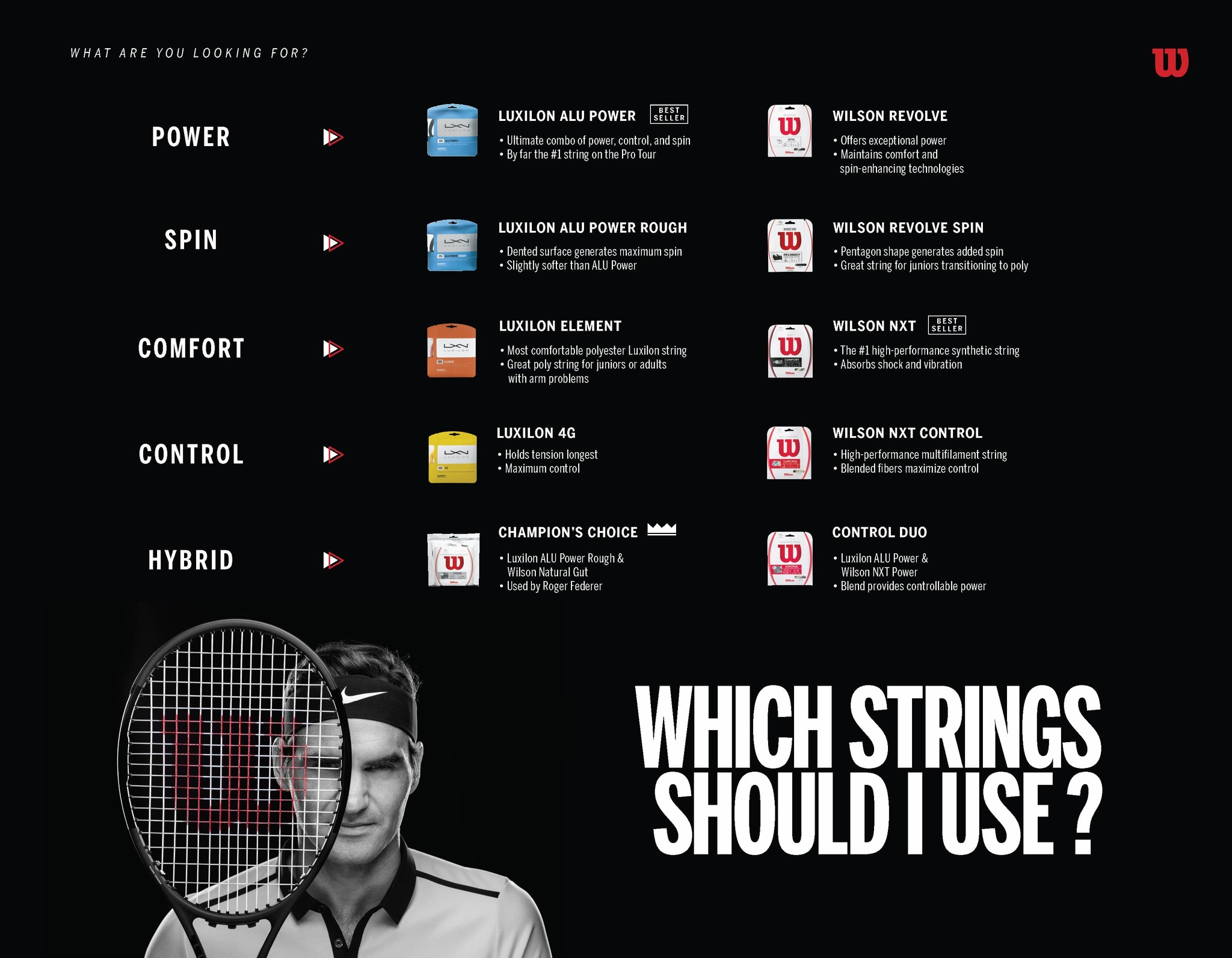 what tennis string is best for me wilson
