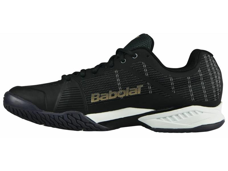 Babolat Jet Mach l Black/White/Champagne Men's Shoe