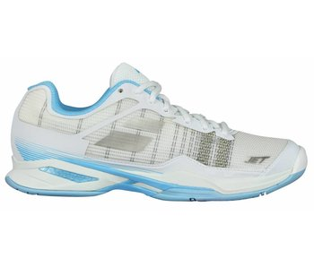 Babolat Jet Mach I White/Sky Blue Women's Shoe