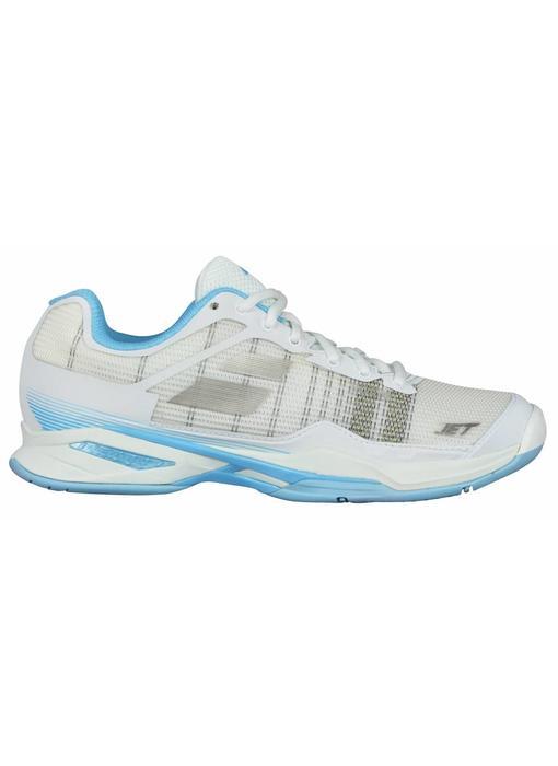 Babolat Jet Mach I White/Sky Blue Women's Shoe