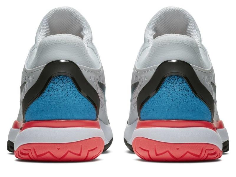 Nike Zoom Cage 3 HC Platinum/Blue/White/Red Women's Shoe