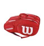 Wilson Team III Red/White 12 Pack Bag