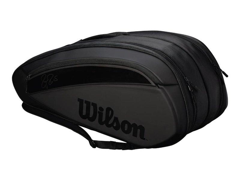 Wilson Federer DNA 12 Pack Tennis Bag Black