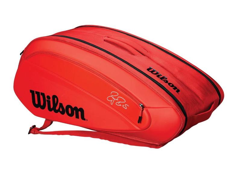Wilson Federer DNA 12 Pack Tennis Bag Red