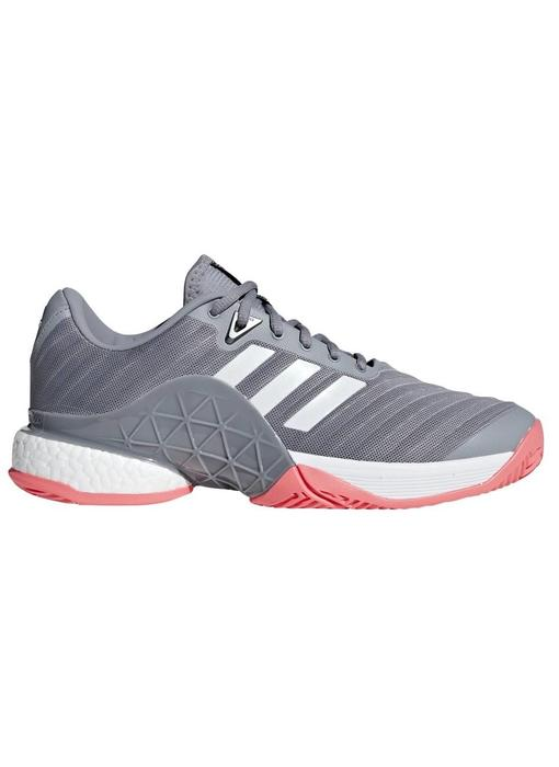 Adidas Barricade 2018 Boost Grey/Flash Red Men's Shoe