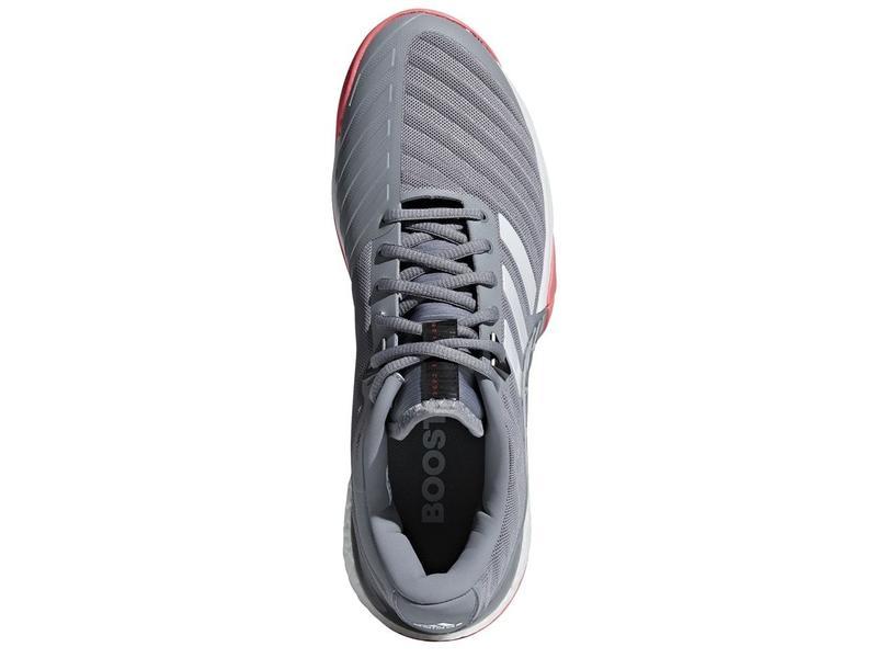 Adidas Barricade 2018 Boost Grey/Flash Red Men's Shoe