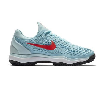 Nike Women's Zoom Cage 3 Tennis Shoes Still Blue/Crimson
