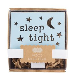 Mud Pie Blue Cut-Out Wood Night Light