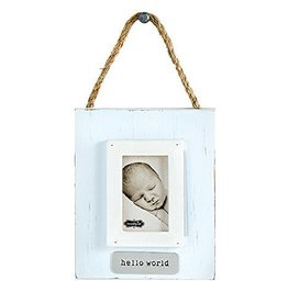 Mud Pie Blue Hello World Ornament Frame
