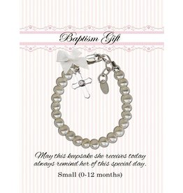 Cherished Moments Christening Bracelet (Freshwater Pearls with Cross)  SM