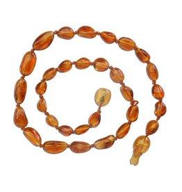 Cherished Moments Amber Teething Necklace - Honey Polished, Medium