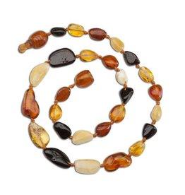 Cherished Moments Amber Teething Necklace - Multi Polished, Small