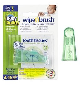 Baby Buddy Oral Care, Stage 3 Wipe n Brush