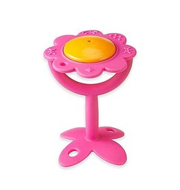 Innobaby EZ Grip Teether Flower Rattle - Pink