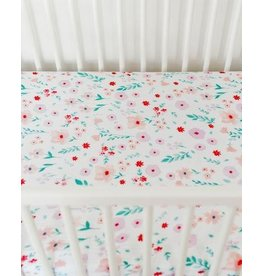 Little Unicorn Brushed Cotton Crib Sheet - Morning Glory
