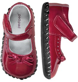 pediped Isabella Red Patent, 12-18