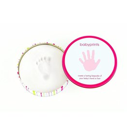 Pearhead Babyprints Round Tin Pink