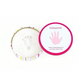Pearhead Babyprints Round Tin Pink