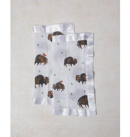 Little Unicorn Cotton Muslin Security Blankets - 2 pack - Bison