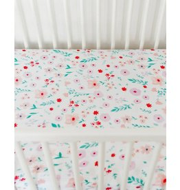 Little Unicorn Cotton Muslin Fitted Sheet - Morning Glory