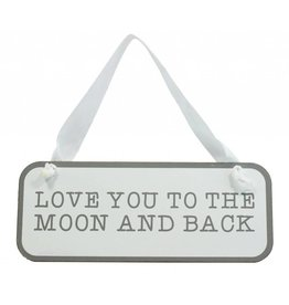Mud Pie White To The Moon Door Hanger