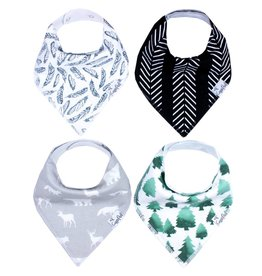 Copper Pearl Bib - Woodland Set - 4 pack