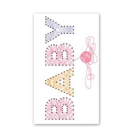 Rock Scissor Paper Enclosure Card - Pink String