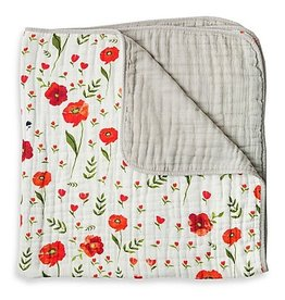 Little Unicorn Brushed Quilt - Summer Poppy