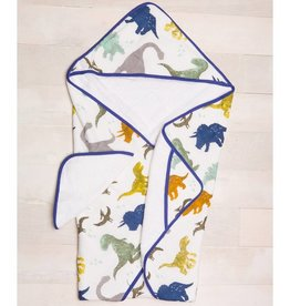 Little Unicorn Cotton Hooded Towel & Wash Cloth - Dino Friends
