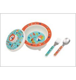 Ore Originals Suction Bowl Set Happy Camper