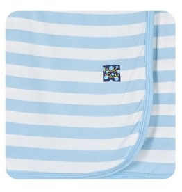 Kickee Pants Swaddling Blanket - Pond Stripe