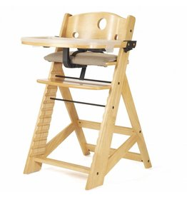 Keekaroo by Bergeron By Design Height Right High Chair Natural with Tray and Cover