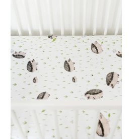 Little Unicorn Cotton Muslin Fitted Sheet - Hedgehog