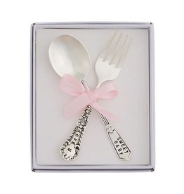 Mud Pie Baby Girl Feeding Set