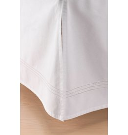 Little Unicorn Percale Crib Skirt White