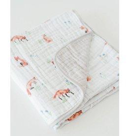 Little Unicorn Cotton Muslin Quilt - Fox
