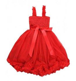 RuffleButts Red Princess Petti Dress