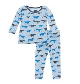 Kickee Pants Print Long Sleeve Pajama Set (Pond Running Labs)
